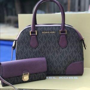 Michael kors Hattie bowling bag with wallet set
